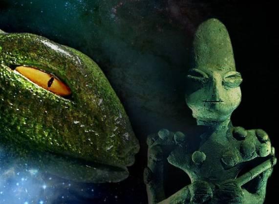 Dioses REPTILES que CONFIRMAN la llegada de SERES superiores en la antigüedad: Las figuras de Ubaid