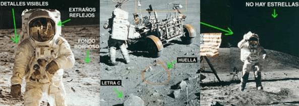 Reflejo en el Visor de un astronauta demuestra que el alunizaje fue mentira