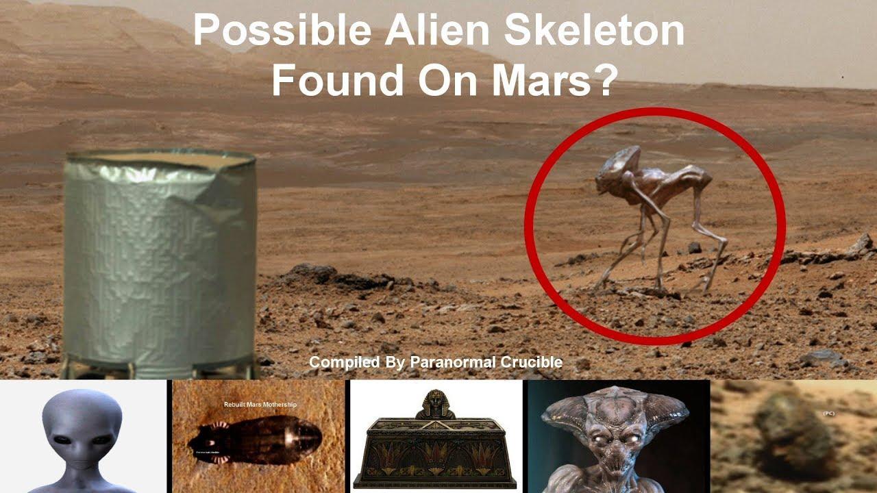 Esqueleto gigante superficie Marciana