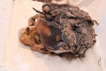 mujer egipcia con extensiones de cabello descubiertos en Armana,,3300 años