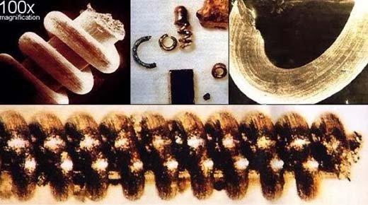 Componenetes microelectronicos antediluvianos.En Los Montes Urales: Tecnología Pre diluvio (como lo fue en los días de Noé)