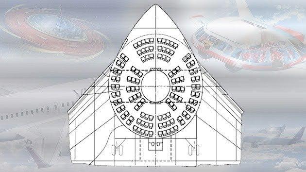 Airbus patenta un avión parecido a un platillo volador