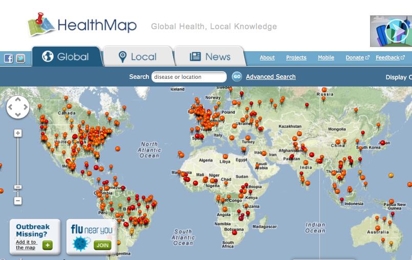 HealthMap, el programa que detectó el brote de ébola nueve días antes que la OMS