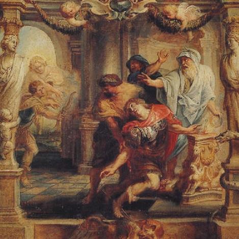 peter paul rubens the death of achilles - Tetis, Peleo y el nacimiento de Aquiles