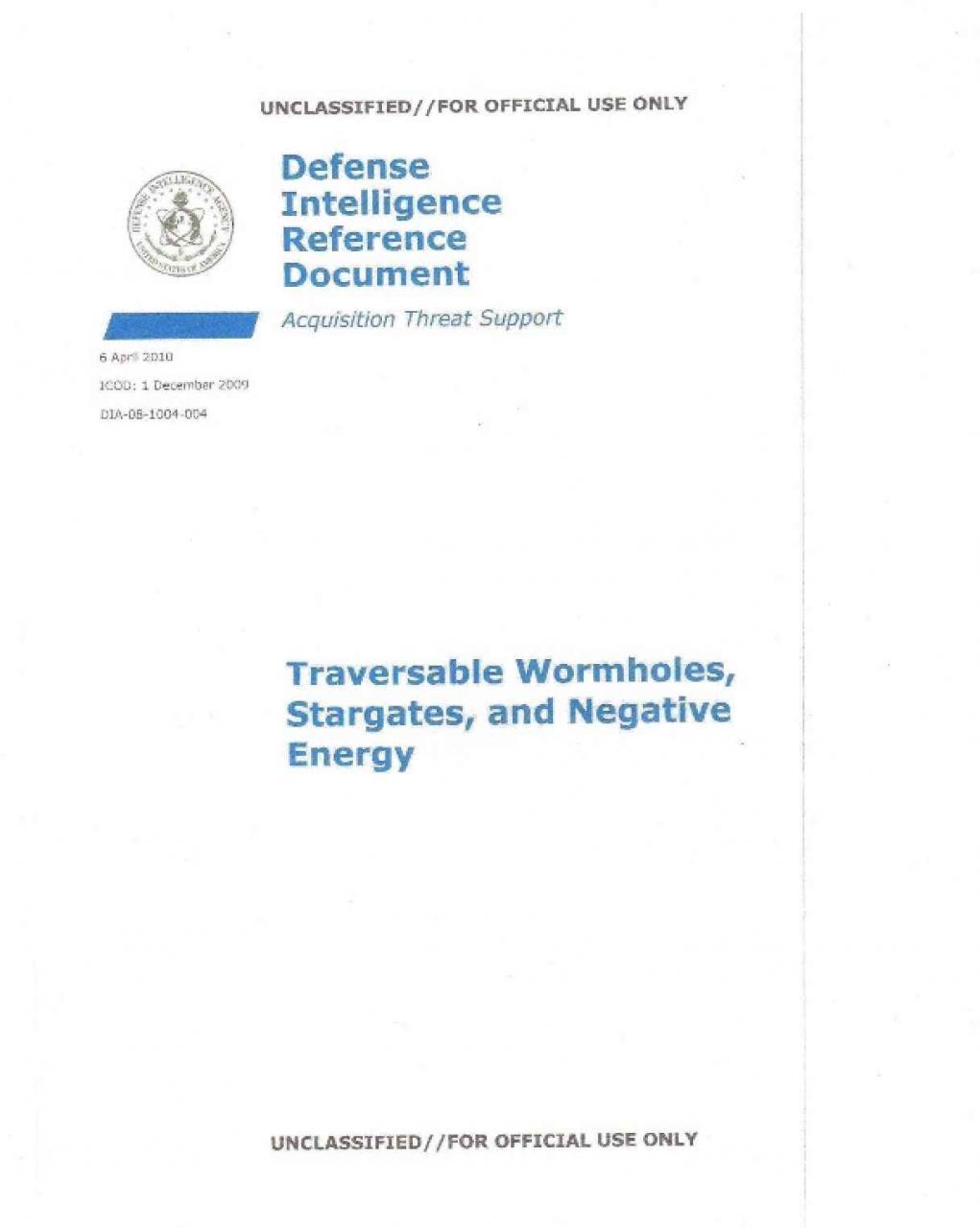 Documentos desclasificados de tecnologíasavanzadas para el viaje interestelar
