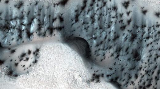 Nieve en Marte, asombrosa belleza natural extraterrestre al descubierto (Fotos)
