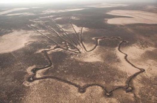 Las obras de los viejos hombres: Geoglifos de Oriente Medio