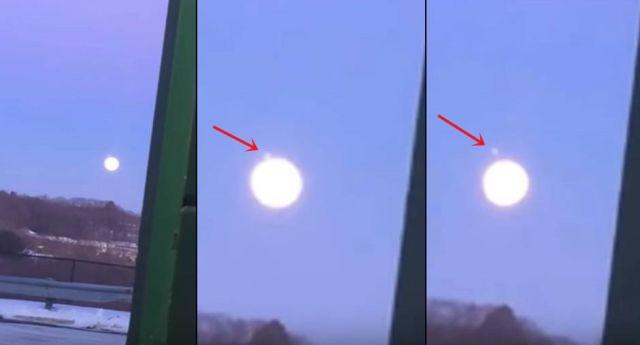 Increible OVNI saliendo de la Luna