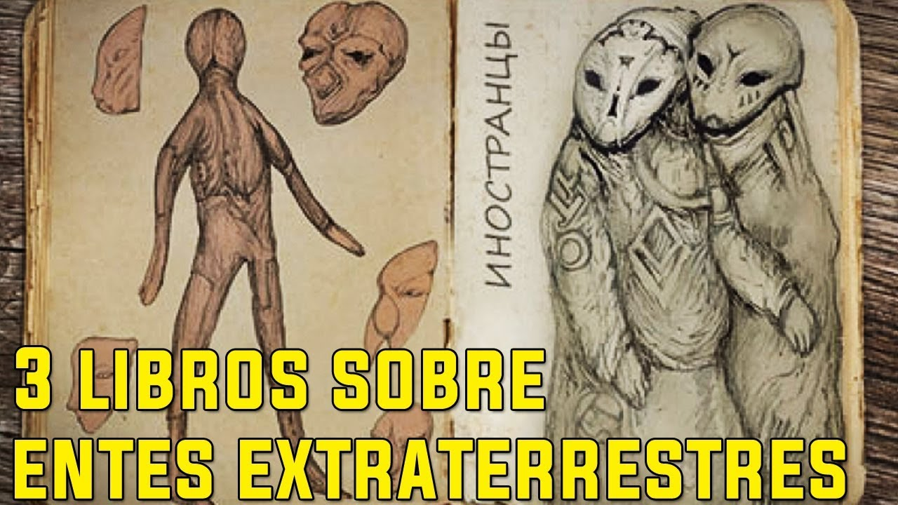 Los 3 Libros más extraños sobre entidades EXTRATERRESTRES