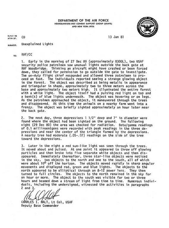 Militares estadounidenses pueden haber sido abducidos, dice coronel retirado de la USAF