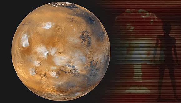 La Tierra vencedora en una guerra interplanetaria en el pasado