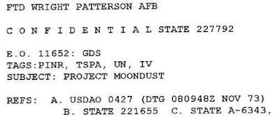 """Los """"OVNIs"""" del Proyecto Moon Dust"""
