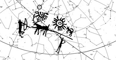 Antiguo petroglifo indio representa a misteriosos soles gemelos en los cielos de la Tierra