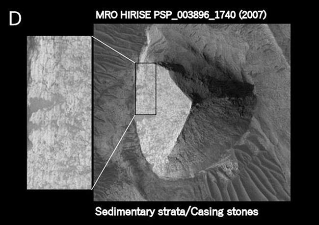 Existen 3 pirámides verificadas en Marte