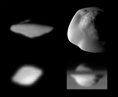 Las lunas ovni de Saturno.