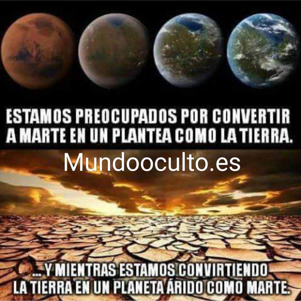 La tierra y marte