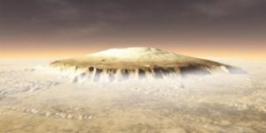 Acelerador de partículas antiguo en el planeta rojo