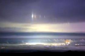 Extrañas luces sobre el cielo de Hawaii