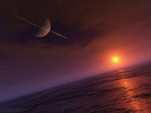 Hallan indicios de vida que «respira» cianuro en Titán, la luna de Saturno