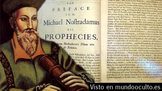 Nostradamus:  predicciones que se cumplirían este año.