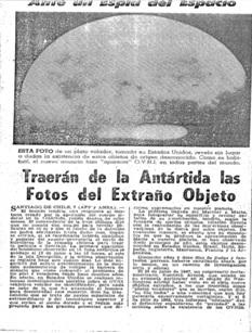 OVNIS EN LA ANTARTIDA: A 50 AÑOS DEL AVISTAMIENTO EN LA ISLA DECEPCION