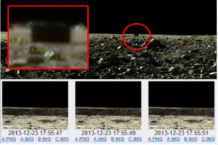 Un monolito negro en las fotos del Rover chino