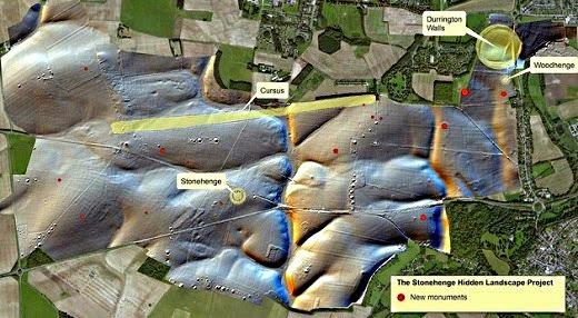 Alrededores de Stonehenge oculta muchos monumentos nunca antes vistos