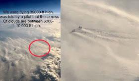Grandes estructuras en las nubes a 10.000 pies de alto?