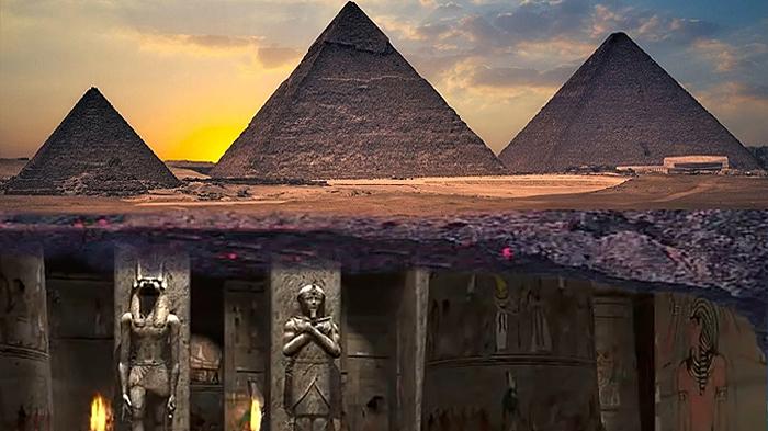 Existe una Ciudad subterránea debajo de las Pirámides de Giza