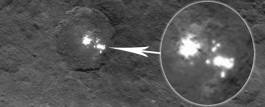 Imágenes de la NASA muestran posibles ciudades extraterrestres en la superficie del Planeta enano Ceres