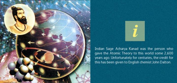 La teoría atómica fue desarrollada hace 2.600 años por un antiguo sabio hindú