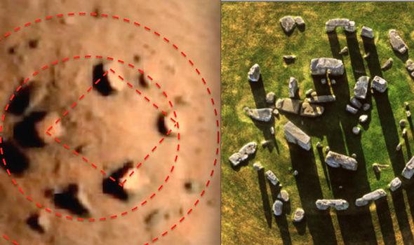 MARS-HENGE: 'antiguo círculo de piedra extraterrestre encontrado en Marte versión de Stonehenge
