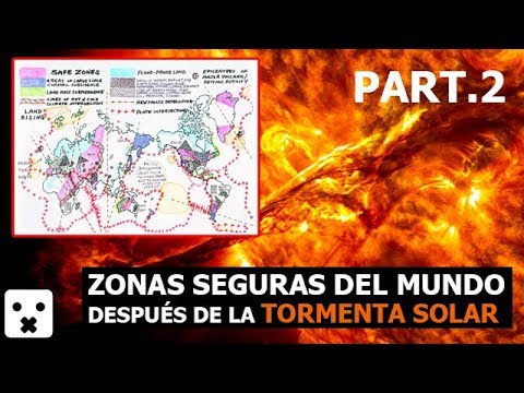 TORMENTA SOLAR LAS ZONAS SEGURAS DEL MUNDO