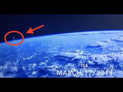Tres ovnis fueron filmados por la Estación Espacial Internacional