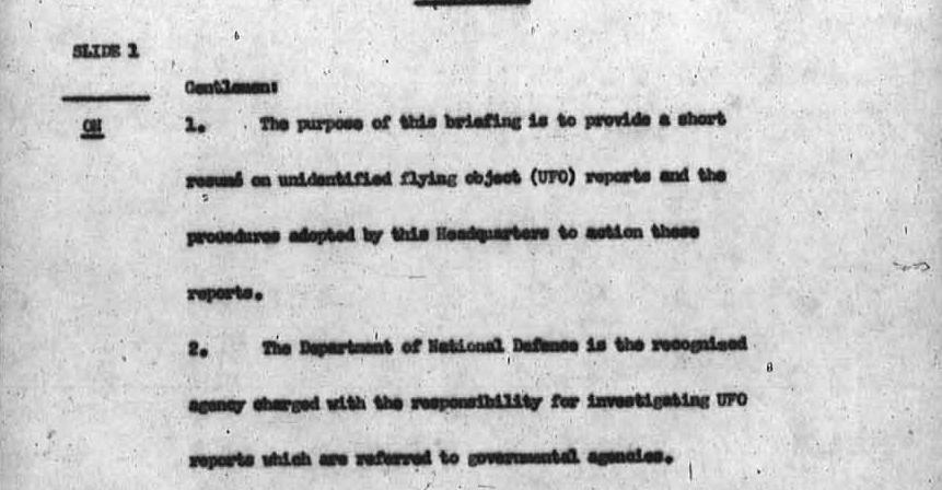 Canada oculto que tenia programa de investigacion OVNI