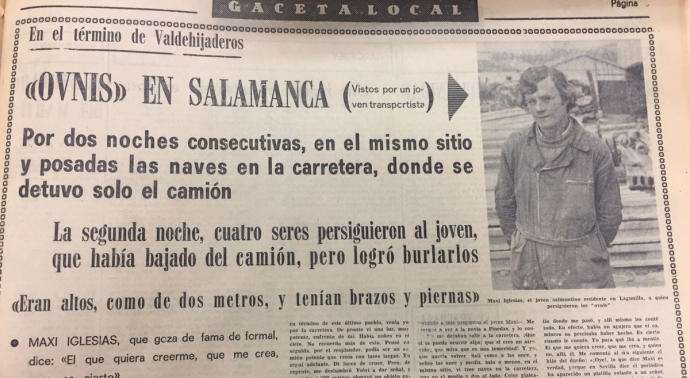 El famoso avistamiento de ovnis en Salamanca