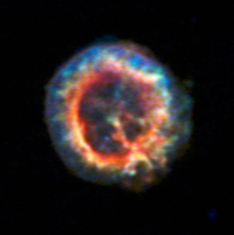En los restos de la supernova se esconde una misteriosa fuente de radiación