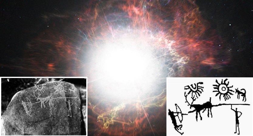 este antiguo petroglifo indio representa dos misteriosos 'soles gemelos' sobre la tierra - inicio