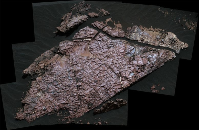 Grietas en Marte han revelado un sistema de lagos antiguos