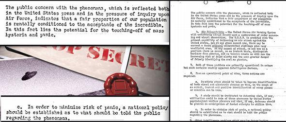 politica de la cia «encubrir los avistamientos ovni para evitar la histeria de masas» 1 - Política de la CIA: «Encubrir los avistamientos OVNI para evitar la histeria de masas»