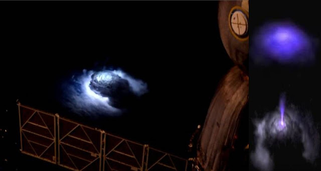 Un fenómeno extraño fue tomado por la cámara instalada en la ISS
