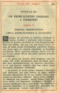 Oración de Exorcismo en Latín y Ritual Romano de 1614
