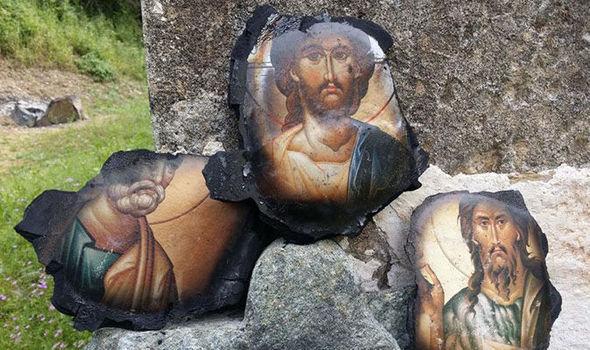 ¿Milagro divino? Se quema iglesia pero los rostros Jesus, San Juan Bautista y San Pedro quedaron intactos