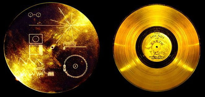 Voyager Golden Records containing sounds and images selected to portray the diversity of life and culture on Earth. They are traveling abroad both Voyager spacecrafts