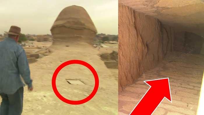 Conces las diferentes entradas a las cámaras secretas de la Gran Esfinge