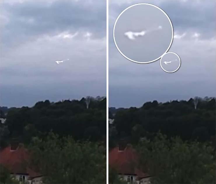 Graban un sorprendente OVNI sobre una base de la Real Fuerza Aérea Británica