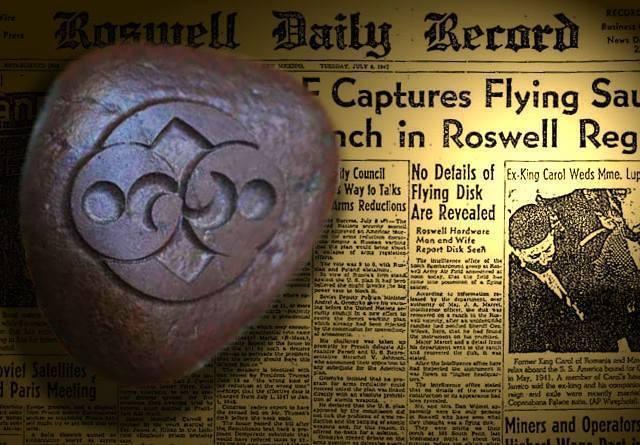 la extrana piedra de roswell tecnologia extraterrestre - Inic.