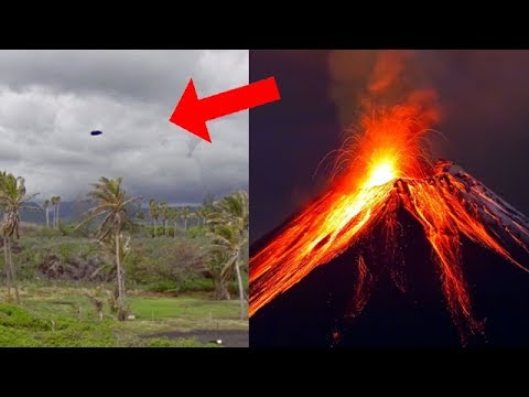 NAVE EXTRATERRESTRE SOBRE VOLCÁN DE HAWAII KILAUEA
