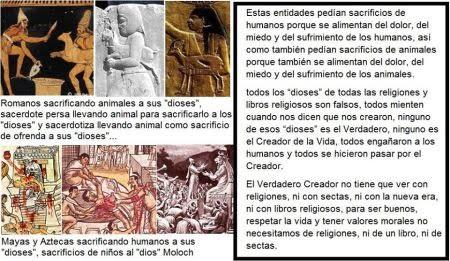 """¿Porque los """"dioses"""" en todas las religiones y libros religiosos pedían sacrificios de humanos y animales?"""