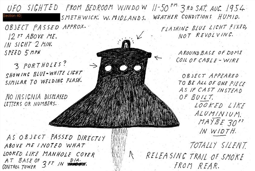 Seis imágenes de los archivos OVNI del gobierno que revelan los secretos en los cielos de Gran Bretaña